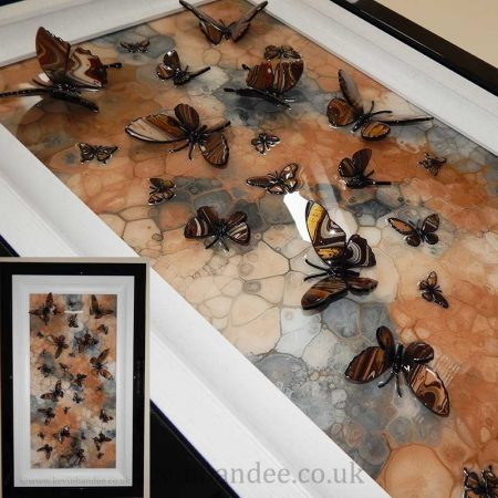 brown stone multi butterfly art gallery view