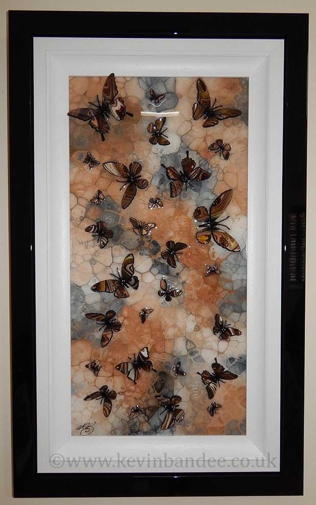 brown stone multi butterfly art gallery