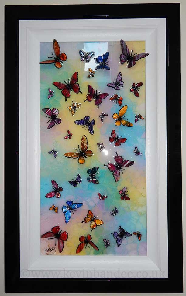 multicolour 3d butterfly art
