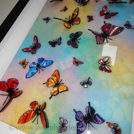 multicolour 3d butterfly close view 2