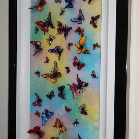 multicolour 3d butterfly side view
