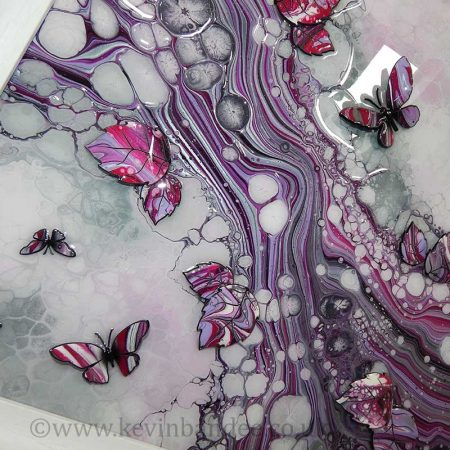 pink lilac organic 3d butterfly close up