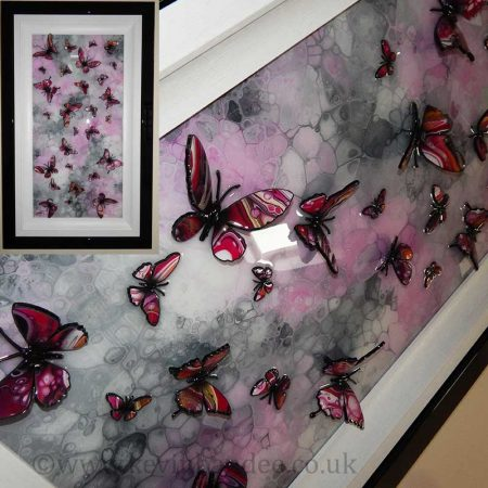 pink multi butterfly piece gallery view