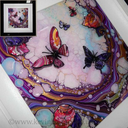 small butterfly wave 3d art gallery