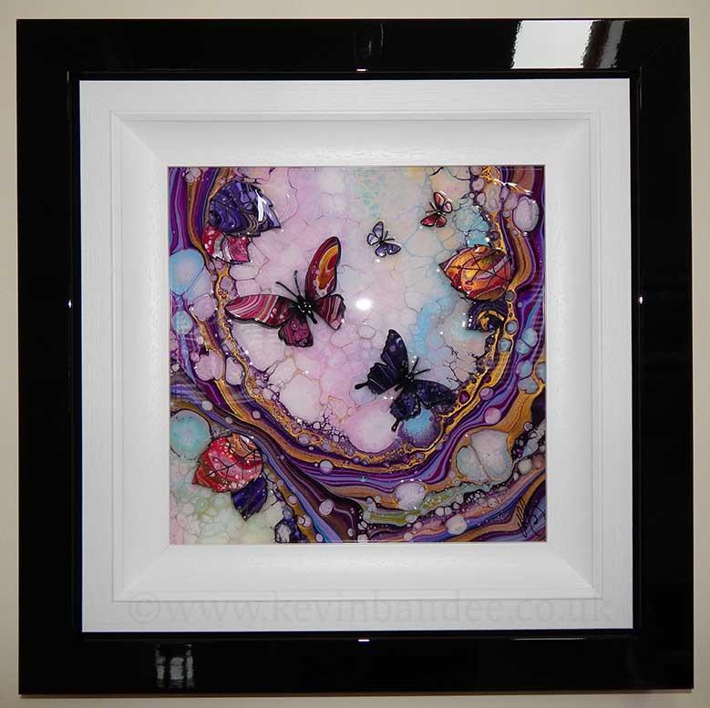 small butterfly wave 3d art