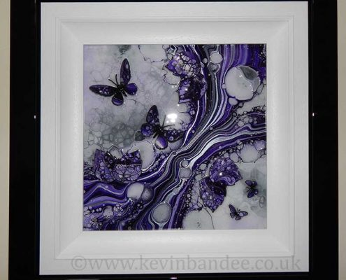 small purple butterfly art