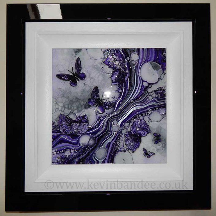 small purple butterfly art
