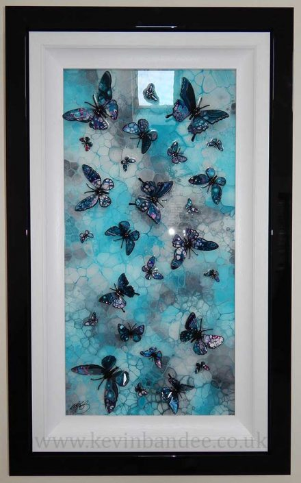 turquoise butterfly art