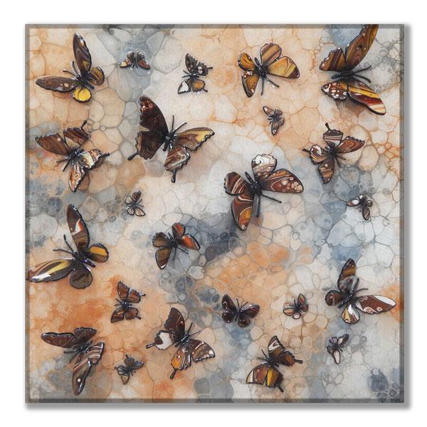 canvas brown multi