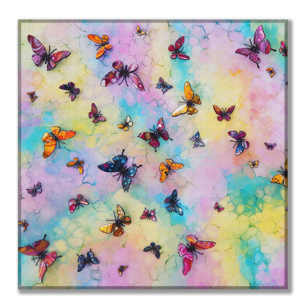 canvas multi butterfly