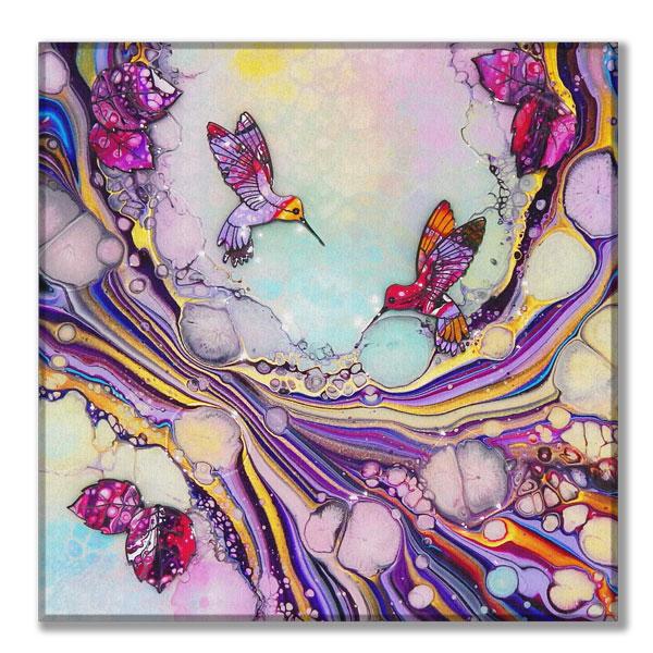 canvas organic hummingbird