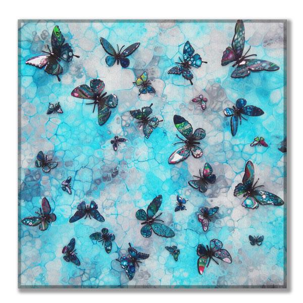 canvas turquoise multi