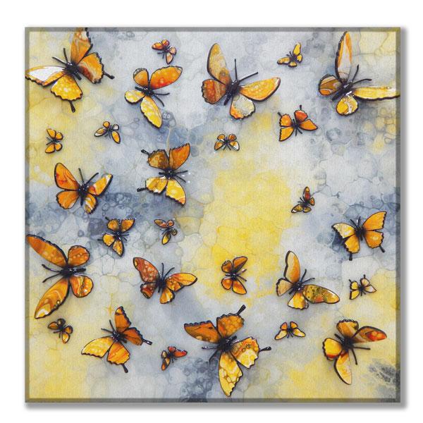 canvas yellow multi