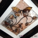 brown 3d butterfly art angle view 2