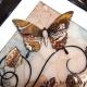 brown 3d butterfly art close up