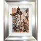 brown 3d butterfly art silver frame
