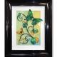 green yellow 3d butterfly art
