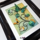 green yellow 3d butterfly art angle view 1