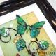 green yellow 3d butterfly art close up
