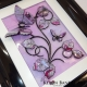lilac 3d butterfly art angle view 2