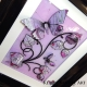 lilac 3d butterfly art angle view