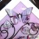 lilac 3d butterfly art close up