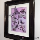 lilac 3d butterfly art side view 2