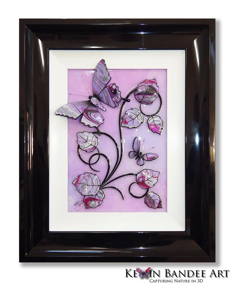 lilac 3d butterfly art