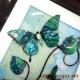 lime green 3d butterfly art close up