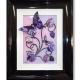 pink purple 3d butterfly art