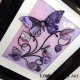pink purple 3d butterfly art angle view 2