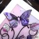 pink purple 3d butterfly art close up
