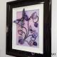 pink purple 3d butterfly art side view 2