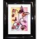 pink yellow 3d butterfly art