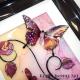 pink yellow 3d butterfly art close up