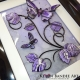 purple grey 3d butterfly art angle view 1