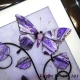 purple grey 3d butterfly art close up