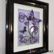 purple grey 3d butterfly art side view 1