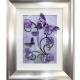 purple grey 3d butterfly art silver frame