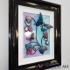 turquoise pink 3d butterfly art side view 1