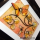 yellow and orange 3d butterfly art angle view 2