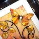 yellow and orange 3d butterfly art close up