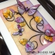 yellow lilac 3d butterfly art angle view 1