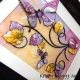 yellow lilac 3d butterfly art angle view 2