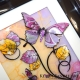 yellow lilac 3d butterfly art close up