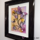 yellow lilac 3d butterfly art side view 2
