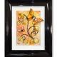 yellow orange 3d butterfly art